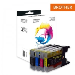 Switch Brother LC1220 LC1240 LC1280 Pack 4+1 Gratuite